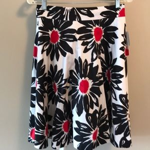 Amanda+Chelsea huge floral circle skirt NWT